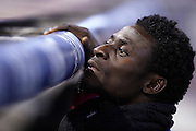 VALENCIA, SPAIN - MARCH 02: Obafemi Martins of Levante UD looks on during the Liga BBVA between Valencia CF and Levante UD at the Mestalla stadium on March 02, 2013 in Valencia, Spain. (Photo by Aitor Alcalde Colomer).