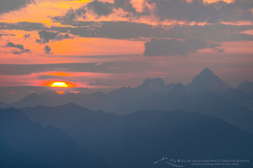 Purcell Mountains sunset British Columbia