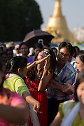 Possessed woman taken over by spirits at festival, Yangon