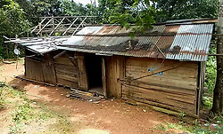 August 9, 2017 - MANIPUR, INDIA - MANIPUR, INDIA- AUGUST, 2017: General view of the house where six-month-old Seiminsang Kipgen lives with his family in Manipur, India.....Seiminsang Kipgen was born with a rare case of Hydrocephalus where the cerebrospinal fluid accumulates in the brain, causing extreme swelling and a buildup of pressure. He weighs around 15kg (33lbs) while his head alone weighs 10kg (22lbs). His body finds it difficult to hold the extreme growth and weight of his head.....Photography by: Kaybie Chongloi / Cover Asia Press (Credit Image: © Kaybie Chongloi/Cover Asia via ZUMA Press)