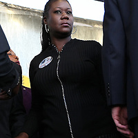 Sybrina Fulton, the mother of Trayvon Martin, approaches the podium during a rally for the shooting of Trayvon Martin on Thursday, March 22, 2012 at Fort Mellon Park in Sanford, Florida. (AP Photo/Alex Menendez) Trayvon Martin rally in Sanford, Florida.