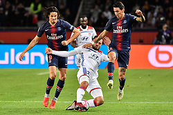October 7, 2018 - Paris, ile de france, France - Edison Roberto Cavani,Lucas Toursart,Angel Di Maria during the french Ligue 1 match between Paris Saint-Germain (PSG) and Olympique Lyonnais (OL, Lyon) at Parc des Princes stadium on October 7, 2018 in Paris, France. (Credit Image: © Julien Mattia/NurPhoto/ZUMA Press)