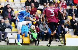 Marcus Maddison of Peterborough United controls the ball away from James Meredith of Bradford City - Mandatory by-line: Joe Dent/JMP - 04/03/2017 - FOOTBALL - Coral Windows Stadium - Bradford, England - Bradford City v Peterborough United - Sky Bet League One