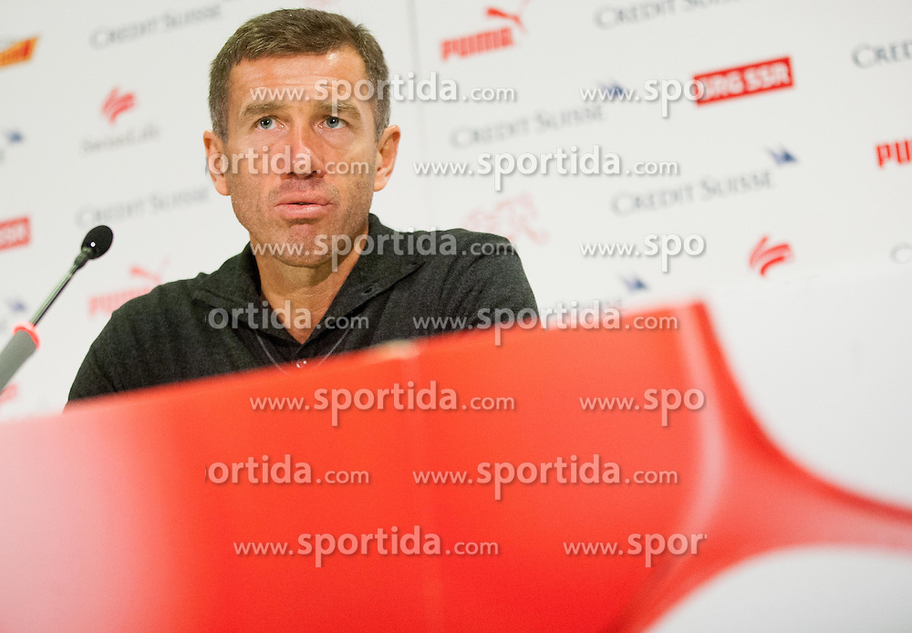 Srecko Katanec, head coach of Slovenia during press conference after the FIFA World Cup 2014 Group E qualification match between Switzerland and Slovenia on October 15, 2013 in STADE DE SUISSE, Bern, Switzerland. Switzerland defeated Slovenia 1-0 and Qualified for World Cup Brasil 2014. (Photo by Vid Ponikvar / Sportida)