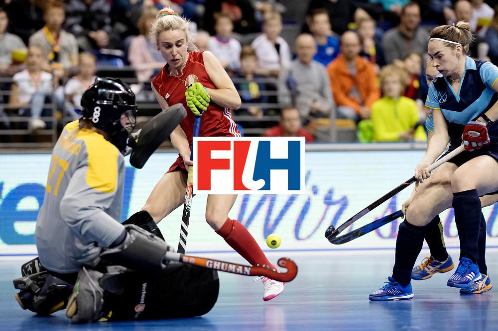 BERLIN - Indoor Hockey World Cup<br /> Bronze: Ukraine - Belarus<br /> foto: BAHUSHEVICH Sviatlana.<br /> WORLDSPORTPICS COPYRIGHT FRANK UIJLENBROEK