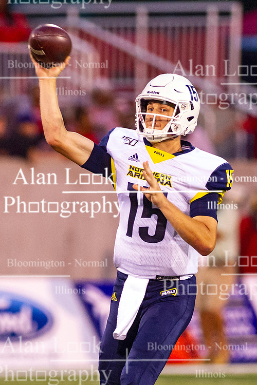 NORMAL, IL - September 21: Case Cookus during a college football game between the ISU (Illinois State University) Redbirds and the Northern Arizona University (NAU) Lumberjacks on September 21 2019 at Hancock Stadium in Normal, IL. (Photo by Alan Look)