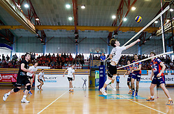 Jan Brulec of Kamnik during volleyball match between Calcit Volleyball and ACH Volley in 4th Final Round of Radenska Classic League 2012/13 on April 16, 2013 in Arena Kamnik, Slovenia. (Photo By Vid Ponikvar / Sportida)