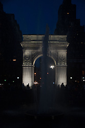 An Evening in Washington Square Park, Manhattan, New York, US