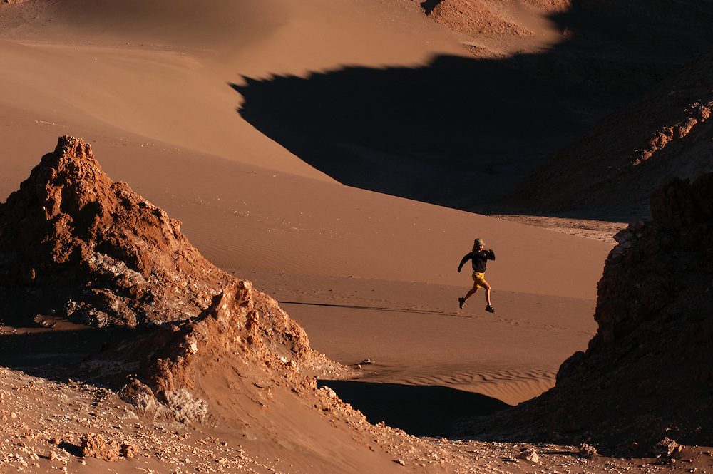 Early morning run. Atacama Desert, Chile