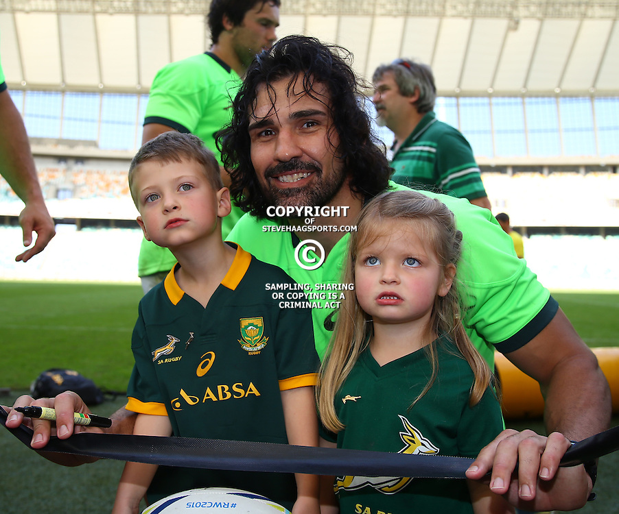 DURBAN, SOUTH AFRICA - AUGUST 21: Victor Matfield during the South African national rugby team training session at Moses Mabhida Stadium on August 21, 2015 in Durban, South Africa. (Photo by Steve Haag/Gallo Images)