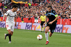 February 20, 2019 - Seville, Spain - Soccer players Senad Lucic and Jesus Navas during the Europa League round of 32 second leg soccer match between Sevilla and Lazio at the Sanchez Pizjuan stadium, in Seville, Spain on February 20, 2019. (Credit Image: © Gtres/NurPhoto via ZUMA Press)