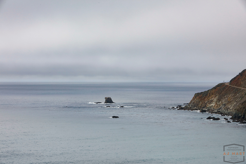 View of the Pacific Ocean as a cloud layer settles over Highway 1 of the Central California Coast, near Big Sur, CA  Feb. 1, 2016. (AJ Mast )