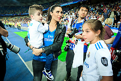 Real Madrid's families celebrate after they won 3-1 during the UEFA Champions League final football match between Liverpool and Real Madrid and became Champions League  2018 Champions third time in a row at the Olympic Stadium in Kiev, Ukraine on May 26, 2018.Photo by Sandi Fiser / Sportida
