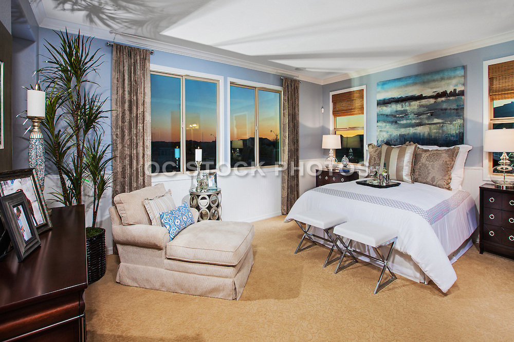 Master Bedroom with Sunset View