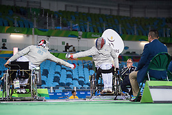 Marc-Andre Cratere, FRA, Wheelchair Fencing, Escrime - Sabre Individuel at Rio 2016 Paralympic Games, Brazil