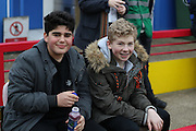 football fans, football supporters during the EFL Sky Bet League 1 match between AFC Wimbledon and Walsall at the Cherry Red Records Stadium, Kingston, England on 25 February 2017. Photo by Stuart Butcher.