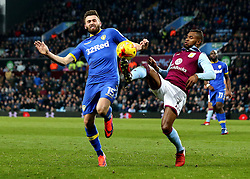 Leandro Bacuna of Aston Villa and Stuart Dallas of Leeds United battle for the ball - Mandatory by-line: Robbie Stephenson/JMP - 29/12/2016 - FOOTBALL - Villa Park - Birmingham, England - Aston Villa v Leeds United - Sky Bet Championship