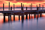A beautiful sunrise along the  Manteo waterfront.
