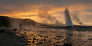 Geysir area in south-Iceland.