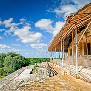 Ancient Mayan ruins at Ek'Balam, near Valladolid, Yucatan, Mexico