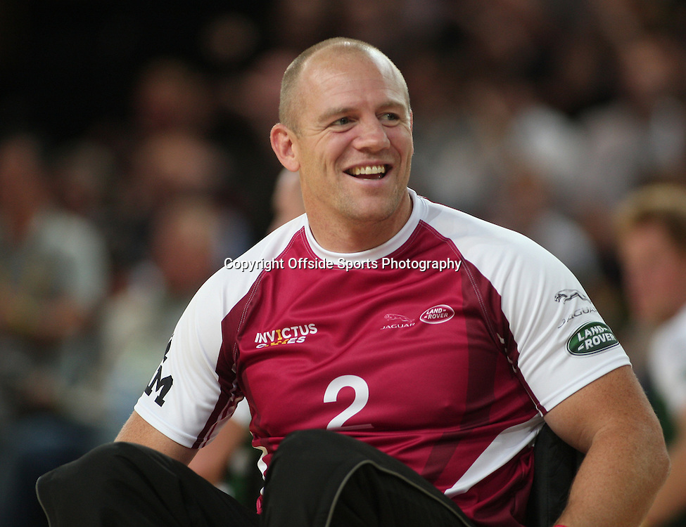 12 September 2014 - Invictus Games Day 2 - Wheelchair Rugby Celebrity Match - Mike Tindall of team Endeavour.<br /> <br /> Photo: Ryan Smyth/Offside