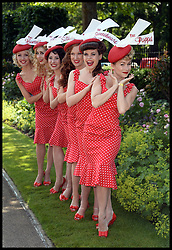 Image ©Licensed to i-Images Picture Agency. 21/06/2014. Ascot, United Kingdom. The Tootsie Rollers arrive for Day 5 of Royal Ascot. Ascot Racecourse. Picture by Andrew Parsons / i-Images