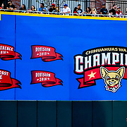 Ace 2017 Year In Review- 2016 PCL Championship Pennants unveiled at Chihuahaua's Opening Night vs Las Vegas 51's, Southwest University Park, El Paso Texas April 6, 2017