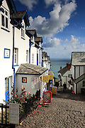 The quaint village of Clovelly in north Devon