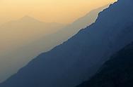 Smoke from wildfires at Logan Pass. Glacier National Park, Montana