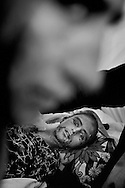 Young woman in the PIMA camp.<br />  She had been given the wrong medicine by Pakistani military doctors immediately after the earthquake. Now she was <br /> dying. <br /> Muzzafrabad - Nov. 2005