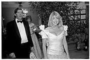Lord and Lady Tryon.Anglo American celebration. Royal Academy. 2 July 1987.  *** Local Caption *** -DO NOT ARCHIVE-© Copyright Photograph by Dafydd Jones. 248 Clapham Rd. London SW9 0PZ. Tel 0207 820 0771. www.dafjones.com.