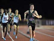 May 3, 2018; Stanford, CA, USA; Jakob Ingebrigtsen (NOR) wins the 1,500m in 3:39.06 during the Payton Jordan Invitational at Cobb Track &  Angell Field.