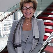 NLD/Amsterdam/20120419 - Onthulling beeld Johnny Kraaijkamp Sr., Janine van der Ende