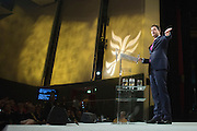 © Licensed to London News Pictures. 15/03/2015. Liverpool, UK Deputy Prime Minister Nick Clegg delivers his leaders speech. The Liberal Democrat Spring Conference in Liverpool 15th March 2015. Photo credit : Stephen Simpson/LNP