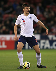 England U21's Dael Fry during the UEFA European U21 Championship Qualifying, Group 4 match at Bramall Lane, Sheffield. PRESS ASSOCIATION Photo. Picture date: Tuesday March 27, 2018. See PA story SOCCER England U21. Photo credit should read: Mike Egerton/PA Wire. RESTRICTIONS: Use subject to FA restrictions. Editorial use only. Commercial use only with prior written consent of the FA. No editing except cropping.
