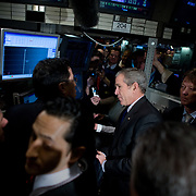 President George W.  Bush visits the New York Stock Exchange Wednesday, January 3, 2007, in New York.<br /> <br /> Khue Bui for Newsweek