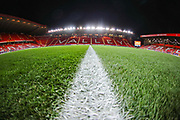 A general view inside The Valley Stadium prior to the EFL Sky Bet Championship match between Charlton Athletic and Hull City at The Valley, London, England on 13 December 2019.