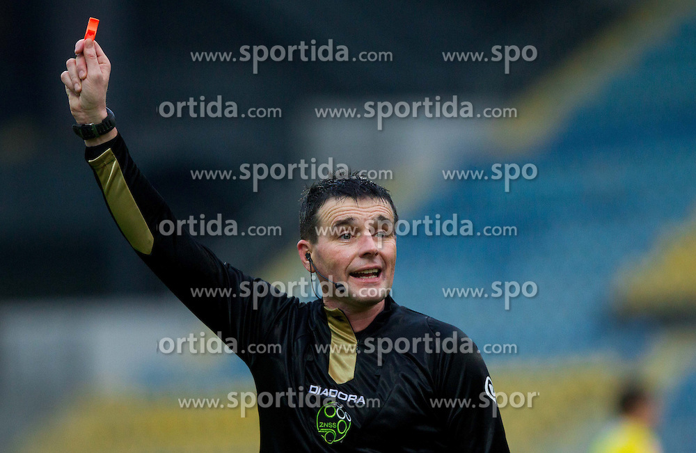 Referee Darko Ceferin during football match between NK Celje and NK Rudar in 21st Round of Slovenian First League PrvaLiga NZS 2012/13 on December 01, 2012 in Arena Petrol, Celje, Slovenia. (Photo By Vid Ponikvar / Sportida)
