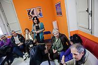 1 March 2012- Palermo, Italy: Rita Borsellino in an assembly of school professionals in Palermo. Rita Borsellino, 66, is the mayor candidate in the centre-left primary campaing for the local elections of the city of Palermo, Sicily. ### 1 marzo 2012 - Palermo, Italia. Rita Borsellino in un'assemblea del personal ATA a Palermo. Rita Borsellino, 66 anni, è il candidato sindaco alle primare del centrosinistra per le elezioni amministrative della città di Palermo, Sicilia.