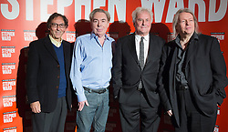 "© Licensed to London News Pictures. 30/09/2013. London, England. L-R: Don Black, Lord Andrew Lloyd Webber, Richard Eyre and Christopher Hampton. Photocall with the main cast and creatives behind the new Andrew Lloyd Webber Musical ""Stephen Ward"". The musical is due to premiere in the West End in December 2013. Photo credit: Bettina Strenske/LNP"
