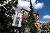 Street piece Banksy geplaatst in Amsterdam