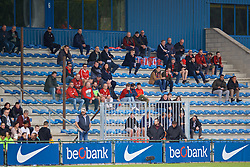 GENK, BELGIUM - Wednesday, October 23, 2019: Liverpool supporters during the UEFA Youth League Group E match between KRC Genk Under-19's and Liverpool FC Under-19's at the KRC Genk Arena Stadium B. (Pic by David Rawcliffe/Propaganda)