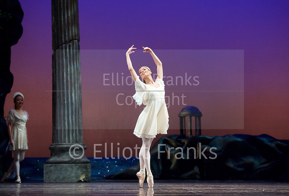 Sylvia<br /> Birmingham Royal Ballet <br /> choreography by David Bentley <br /> at the Birmingham Hippodrome, Birmingham, Great Britain<br /> rehearsal <br /> 23rd June 2015 <br /> <br /> <br /> Celine Gittens as Diana<br /> <br /> <br /> <br /> Photograph by Elliott Franks <br /> Image licensed to Elliott Franks Photography Services