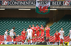 Cardiff, Wales - Saturday, June 2, 2007: Czech Republic's captain Tomas Rosicky takes a free-kick against Wales during the UEFA Euro 2008 Qualifying Group D match at the Millennium Stadium. (Pic by David Rawcliffe/Propaganda)