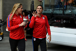 September 19, 2017 - Cincinnati, OH, USA - Cincinnati, OH - Tuesday September 19, 2017: Allie Long, Alex Morgan during an International friendly match between the women's National teams of the United States (USA) and New Zealand (NZL) at Nippert Stadium. (Credit Image: © Brad Smith/ISIPhotos via ZUMA Wire)