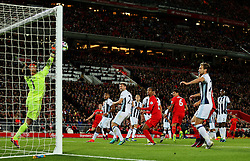 Ben Foster of West Bromwich Albion makes a save from a Dejan Lovren header - Mandatory by-line: Matt McNulty/JMP - 22/10/2016 - FOOTBALL - Anfield - Liverpool, England - Liverpool v West Bromwich Albion - Premier League