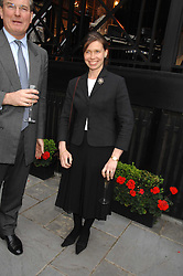 CAPT.ASHE WINDHAM Chairman of the Friends of The Castle of Mey and LADY SARAH CHATTO at a reception for the Friends of The Castle of Mey held at The Goring Hotel, London on 20th May 2008.<br />