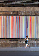 "Ian Davenport ""Poured Lines: Southwark"", Liquid enamel on steel, 2006. Southwark Bridge, London"