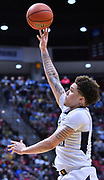 SAN DIEGO, CA - MARCH 18:  West Virginia Mountaineers forward Teddy Allen (13) shoots against the Marshall Thundering Herd during a second round game of the Men's NCAA Basketball Tournament at Viejas Arena in San Diego, California. West Virginia won 94-71.  (Photo by Sam Wasson)