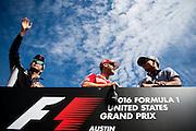 October 23, 2016: United States Grand Prix. Sergio Perez (MEX), Force India, Sebastian Vettel (GER), Ferrari, Pascal Wehrlein (GER), Manor